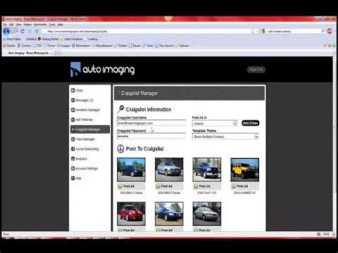 One Click Craigslist Ads Craigslist Templates Auto Imaging Youtube Craigslist Car Posting Template