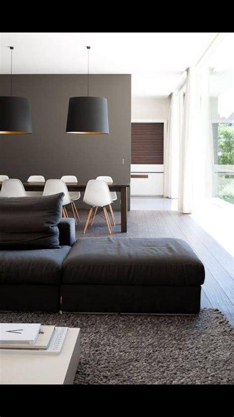 sala comedor negro gris  blanco decoracion