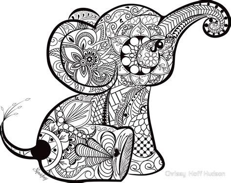 cute elephant doodle