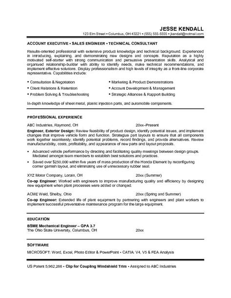 careers objectives sles career objective resume exles for sales engineering and