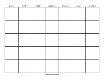 1 Calendar Month Printable Calendar 1 Month By Day