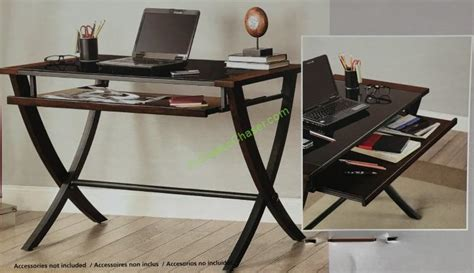 Bayside Furnishings Computer Desk by Bayside Furnishings 48 Office Desk With Slide Out Tray
