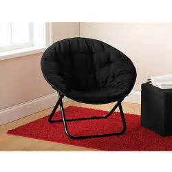 Mainstays microsuede saucer chair black walmart com