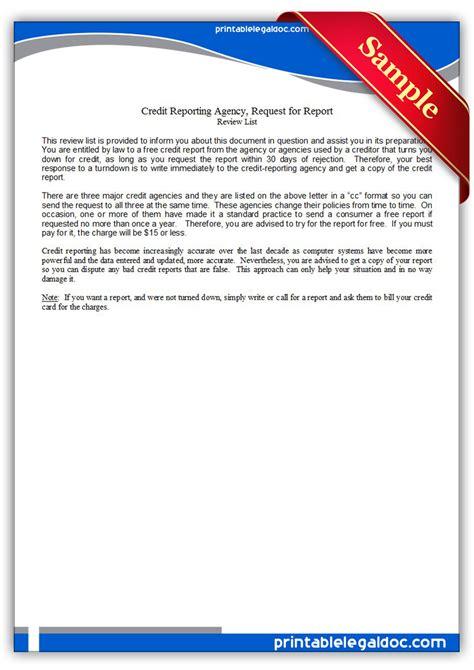 Printable Credit Report