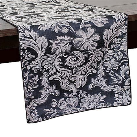 54 inch table runner buy miranda damask 54 inch table runner in black from bed