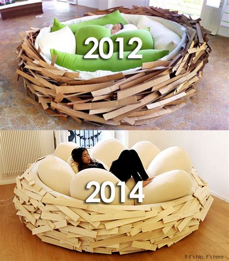nest bed the giant birdsnest bed evolves into a formidable piece of furniture if it s hip