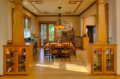 arts and crafts dining room arts crafts style dining room craftsman dining room
