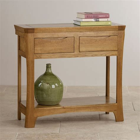 Oak Furniture Land Console Table Orrick Console Table In Rustic Solid Oak Oak Furniture Land