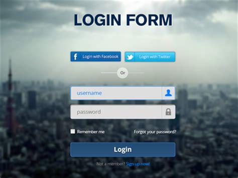 login form psd by murat tekmen dribbble