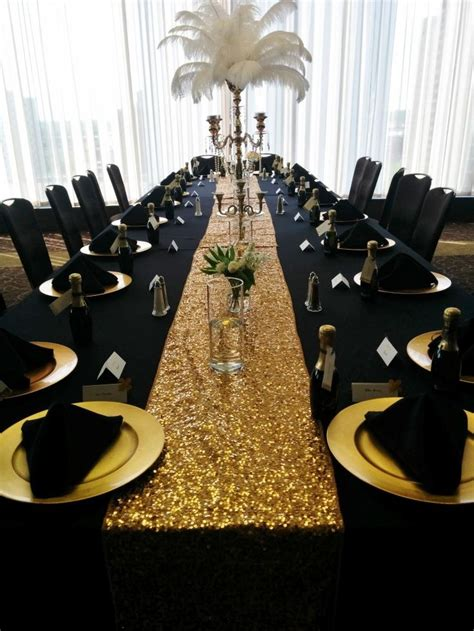 black and gold table 128 best roaring 20 s gb party images on pinterest