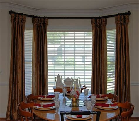 curtains for bay windows in dining room dining room bay window treatments wanted to added window