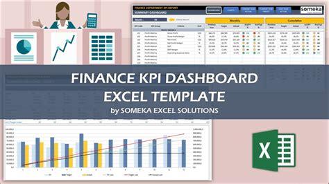 Finance Kpi Dashboard Template Ready To Use Excel Spreadsheet Free Excel Financial Dashboard Templates