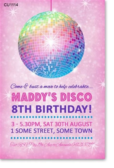 disco template disco invitations badbrya