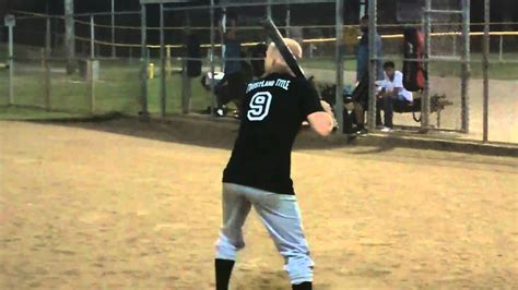 the perfect slow pitch softball swing slow pitch softball hitting youtube