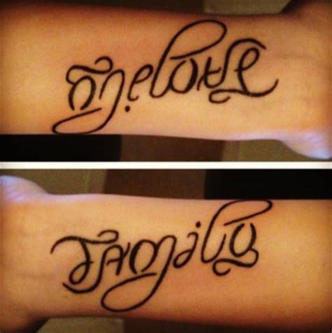 family one love tattoo