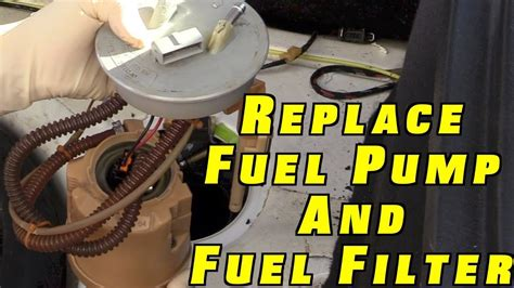 how do you replace a fuel pump and filter on 1991 chevy how to replace a fuel pump and fuel filter youtube