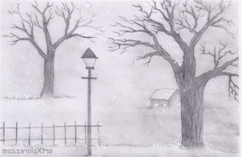 easy landscape drawing for beginners drawing art gallery
