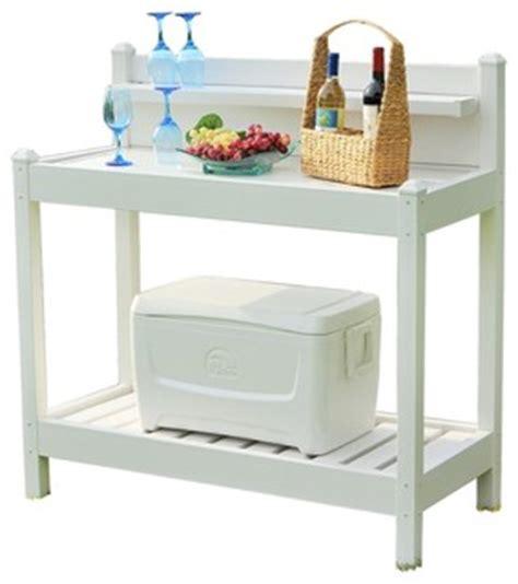 vinyl potting bench dura trel dura trel pvc vinyl potting bench white 48