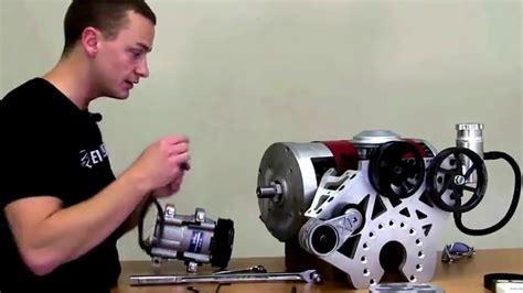 ev west electric motor accessory plate installation power streering vacuum ac
