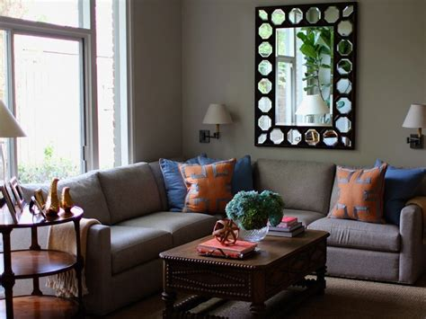Grey Blue Orange Living Room by Gray Sectional Living Room Kristen Nix