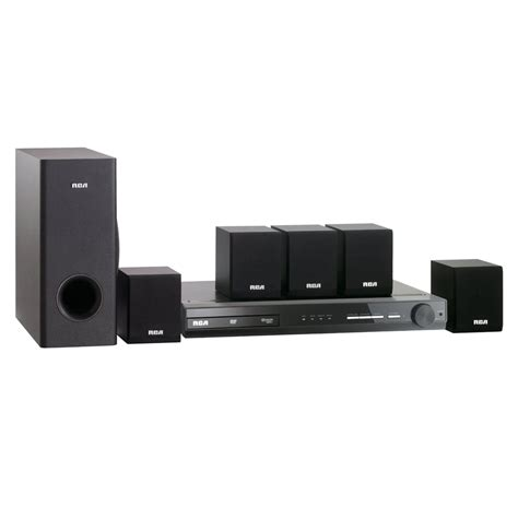 rca refurbished rca 130 watt 5 1 ch home theater system w