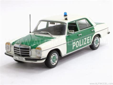Minichs Mercedes 200 Polizei minichs 400034090 mercedes 200 polizei strich 8 1973 1 43