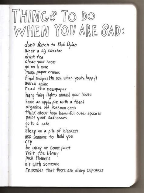 sad stuff on the books when your sad things to do stuff u need to