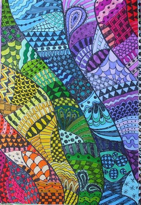 rainbow pattern doodle zentangle zentangles zentangles pinterest color