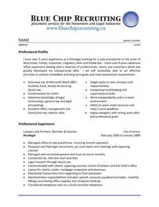 Resume Objective Paralegal Sle Resume Assistant Experience Professional Paralegal Professional Profile