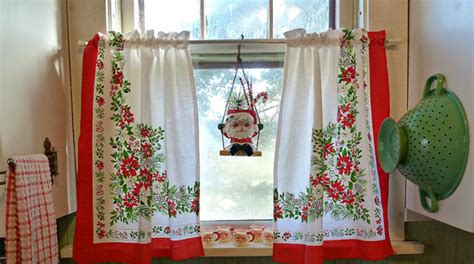 kitchen christmas curtains christmas kitchen curtains