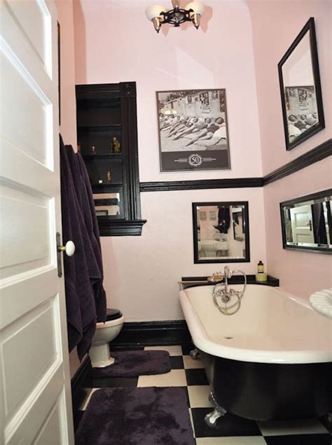 black white pink bathroom spectacularly pink bathrooms that bring retro style back