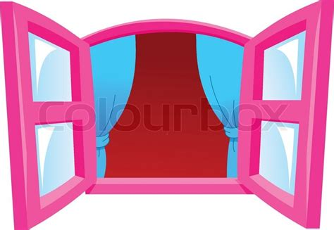 Cartoon window   Stock Vector   Colourbox