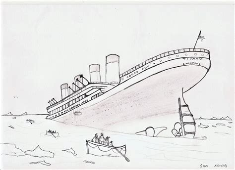 titanic underwater coloring pages titanic sketch by sam wyat on deviantart