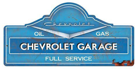 die cut chevrolet garage steel sign gmc  shipping