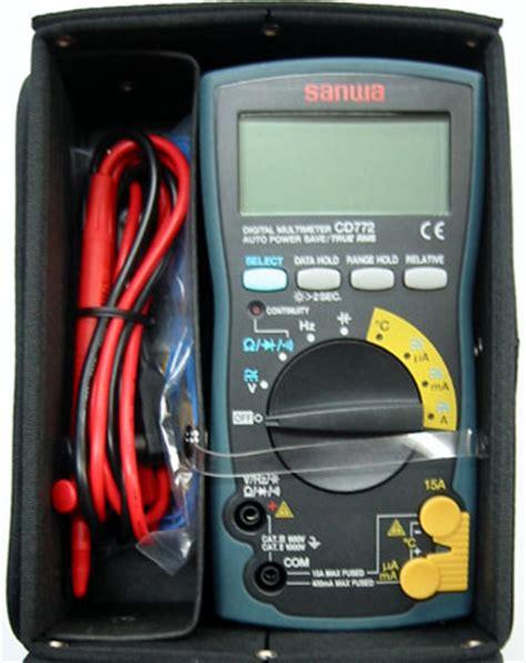 Multimeter Sanwa Cd772 楽天市場 sanwa 三和電気計器 cd772 c77h デジタルマルチメータ 新ハードケース cd 772