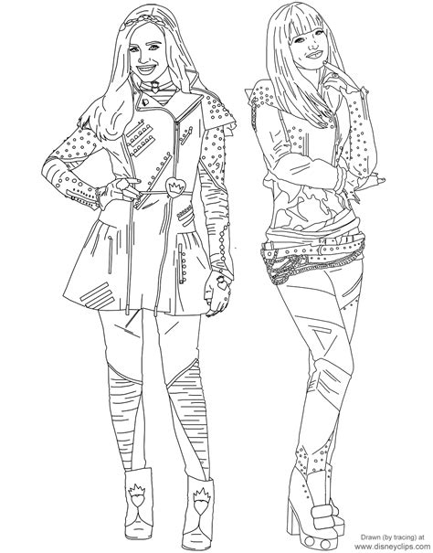 coloring pages of evie from descendants disney s descendants 2 printable coloring pages disney