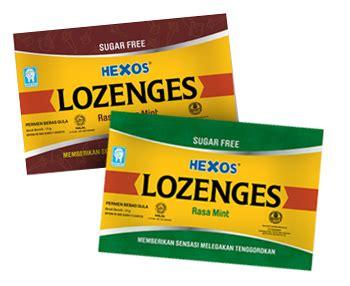 Hexos Permen Rasa Mint hexos lozenges konimex pharmaceutical laboratories