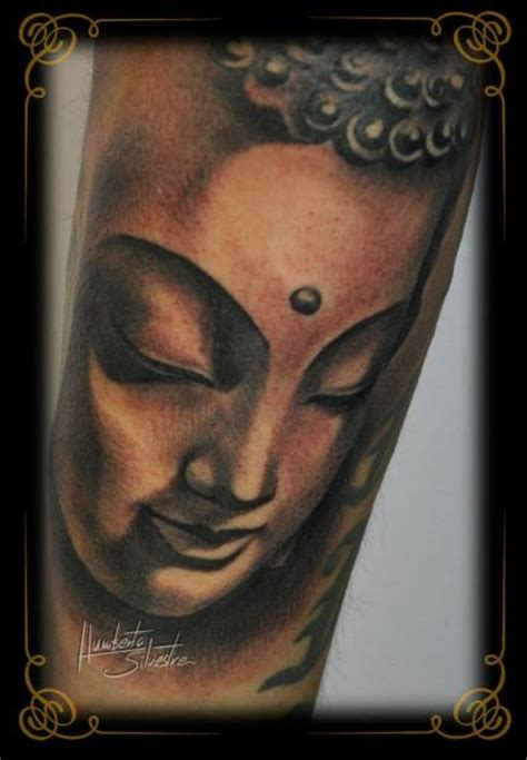 golden dragon tattoo arm buddha religious by golden