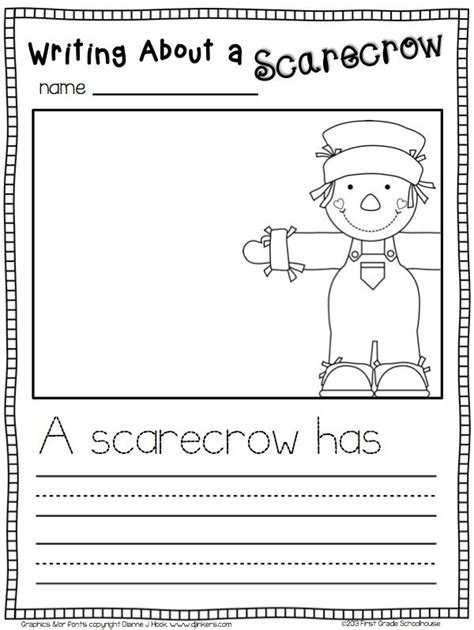 scarecrow writing paper fall writing for kindergarten scarecrows and writing