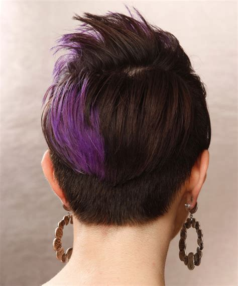emo hairstyles front and back view short straight alternative emo hairstyle with side swept