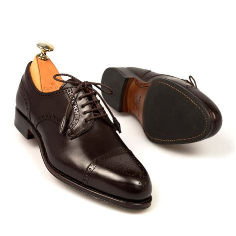 derby office shoes in brown leather