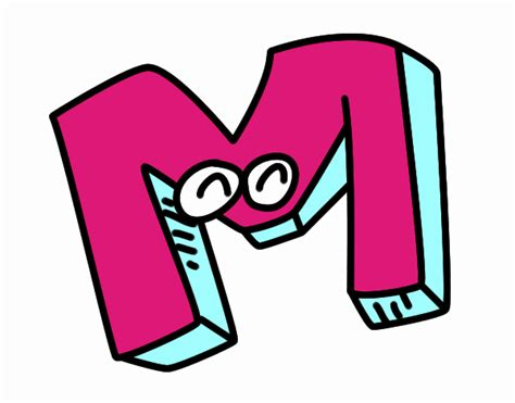 la letra m m dibujo de letra m pintado por en dibujos net el d 237 a 27 10 16 a las 12 44 44 imprime pinta o