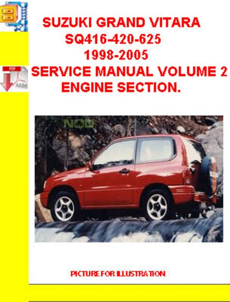 suzuki grand vitara sq416 420 625 1998 2005 service manual v down