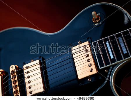 Rok Soft Blue classic black les paul rock and roll or jazz style guitar