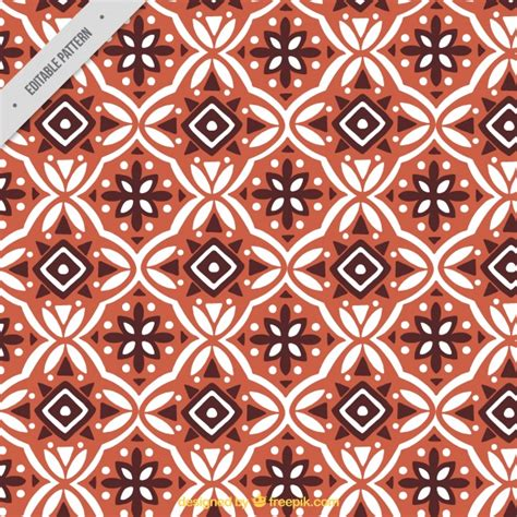 pattern of batik ornamental pattern of batik geometric shapes vector free