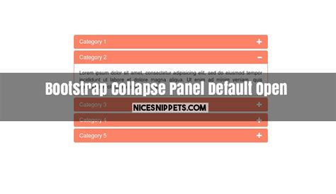sam layout min js bootstrap collapse panel exle with default open