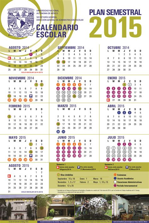 Calendario Escolar Unam 2015 16 Calendarios Escolares Unam
