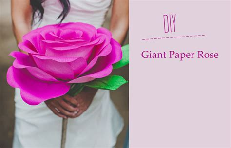huge paper flower tutorial diy giant paper rose flower