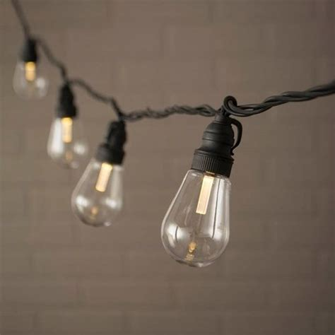 Edison String Lights Acrylic Bulbs Led 20 Feet Warm Edison Light String