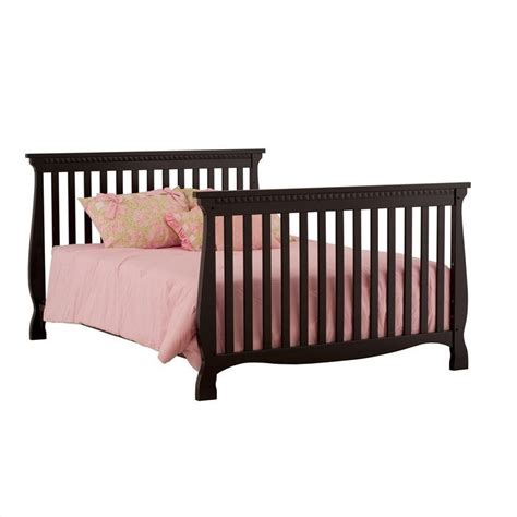 Black Convertible Crib 4 In 1 Fixed Side Convertible Crib In Black 04587 13b